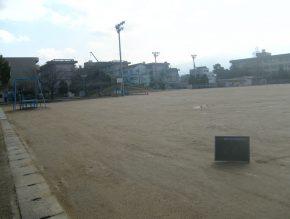 運動場排水整備工事